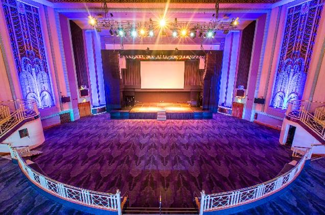 Troxy London Venue Hire E1, flexible event space, large screen