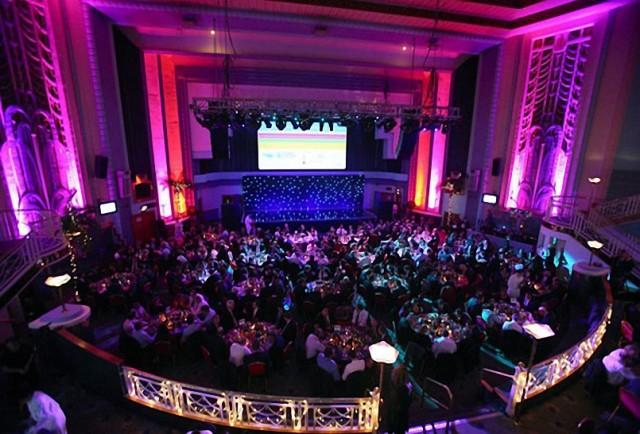 Troxy London Venue Hire E1, seated dinner, corporate venue, screen
