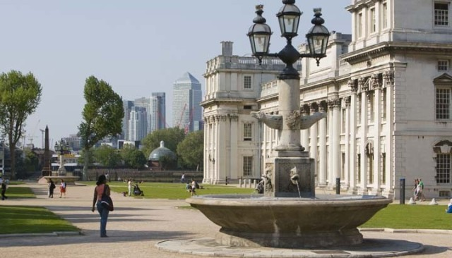 King Charles Lawns with view of the heritage veune behind Old Royal Naval College Venue Hire SE10