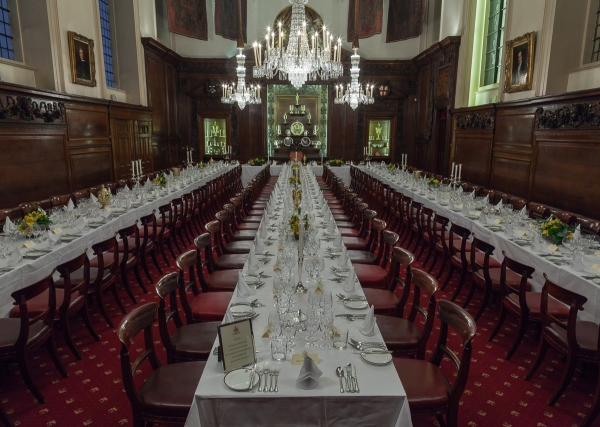 Vintners Hall Christmas Party EC4, seated dinner, banqueting
