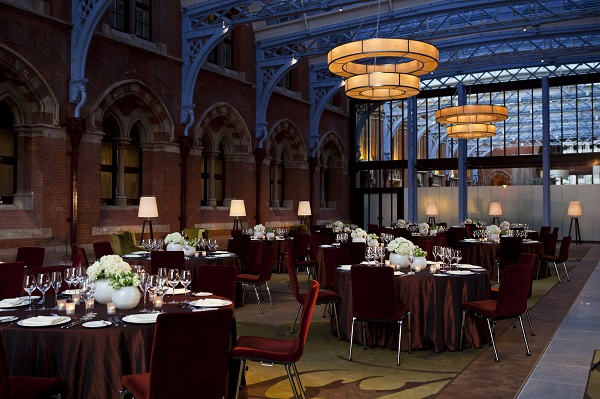 St Pancras Renaissance Christmas Party NW1. historic setting for christmas dining