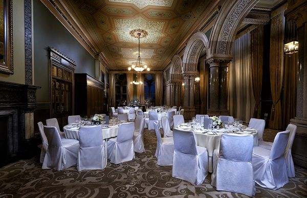 St Pancras Renaissance Christmas Party NW1. Historic features in this dining experience for a christmas party.