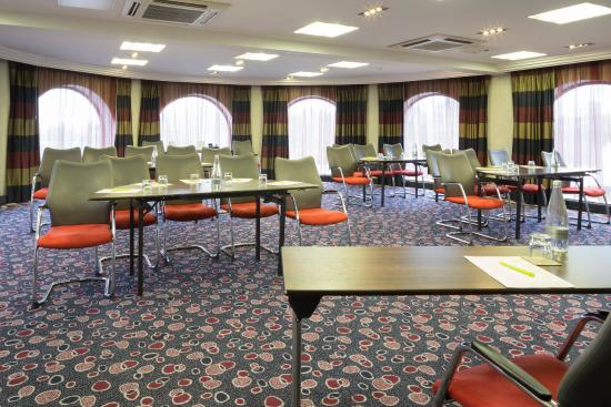 Aviary Conference Room set in classroom style with lots of natural daylight Jurys Inn Hinckley Island Hotel Venue Hire LE10