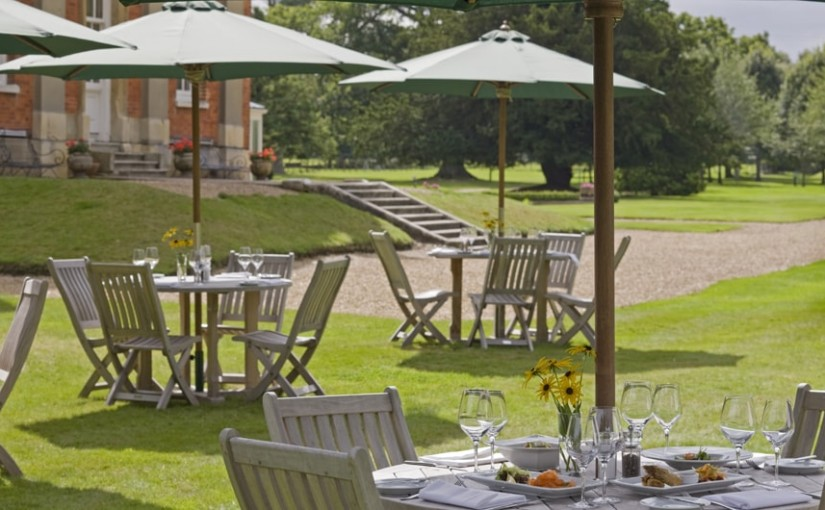 Warbrook House Summer party venue RG27, outside space, seating, stunning grounds