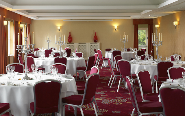 York Marriott Hotel Christmas Party YO24. Tables and chairs set out banqueting style