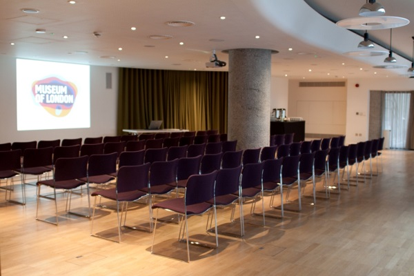 Museum of London Venue Hire EC2Y. Set up theatre style for conference