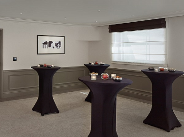 Hyatt Regency London Churchill Venue Hire W1H tables set up for a standing reception