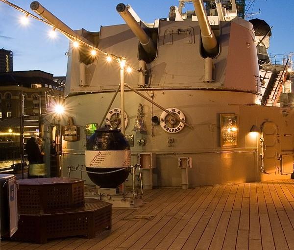 HMS Belfast Venue Hire SE1. HMS Belfast Quarter Deck. Perfect for any type of event.