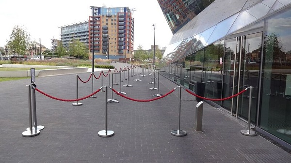 Crystal Summer Party. Entrance to venue, showing its outside space