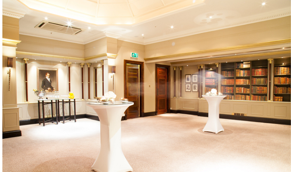 Hyatt Regency London Churchill Venue Hire W1H. The Library Suite - Reception 1