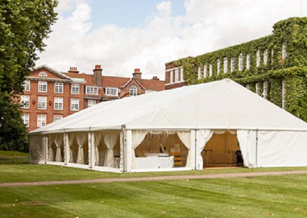 Regents Conference and Events Summer party NW1 Marquee set up for guests to enjoy their summer party , great for a wet weather option.
