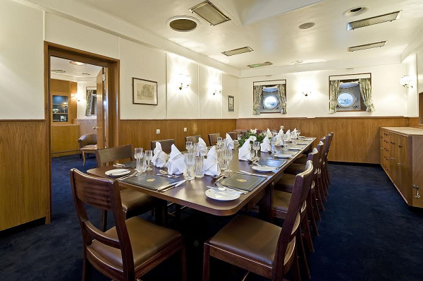 HMS Belfast Private Dining Room. Unique Dining room for you and your guests