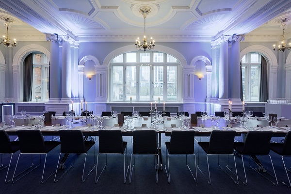 Andaz Liverpool Street Venue Hire EC2M. Table set up boardroom style with natural daylight