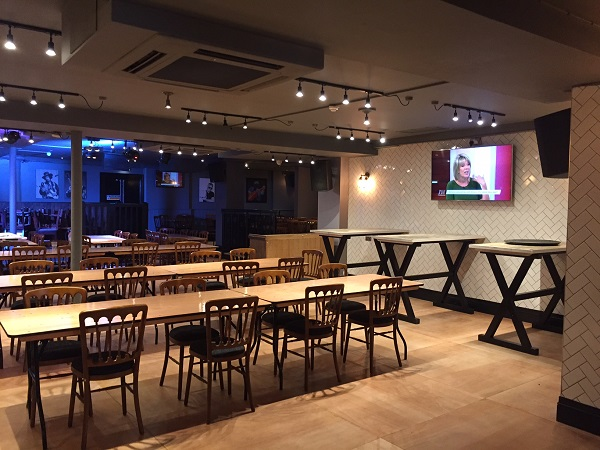 ONeills Wardour Street Venue Hire W1D- newly refurbished dining room