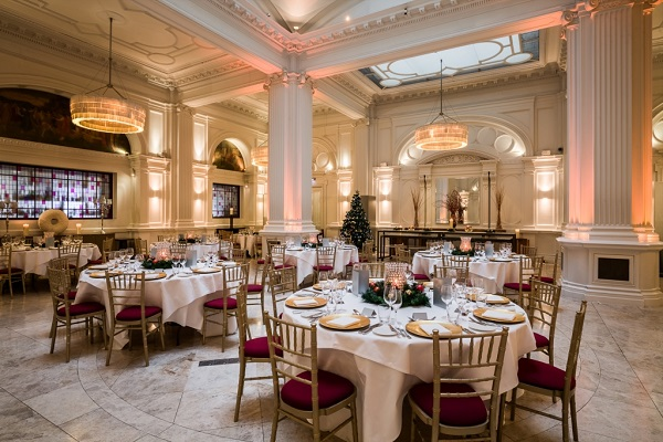 Andaz Liverpool Street Christmas Party EC2M banqueting tables