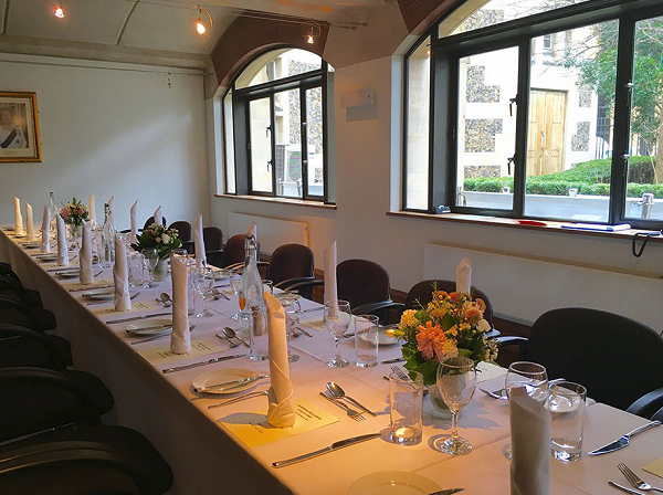 Southawk Cathedral Venue Hire SE1. Inside private dining room