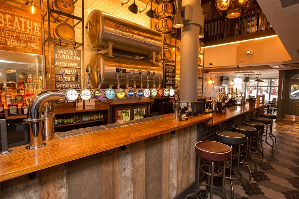 ONeills Wardour Street Venue Hire W1D- Newly refurbished bar area