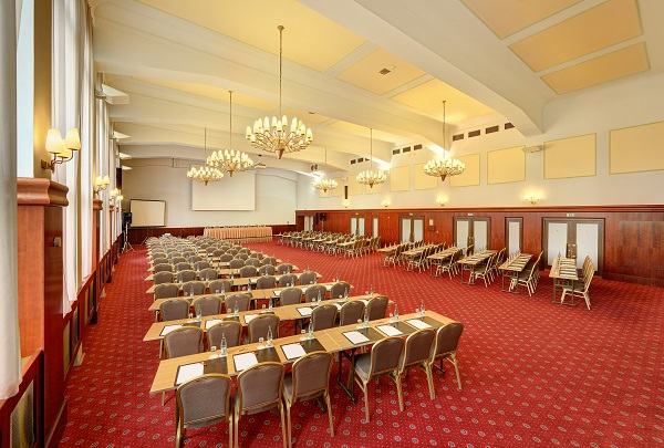 Hotel International Prague Venue Hire 160- conference room set out theatre style