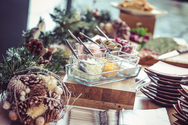 Kings Place Christmas Party N1 festive treats on display at christmas event