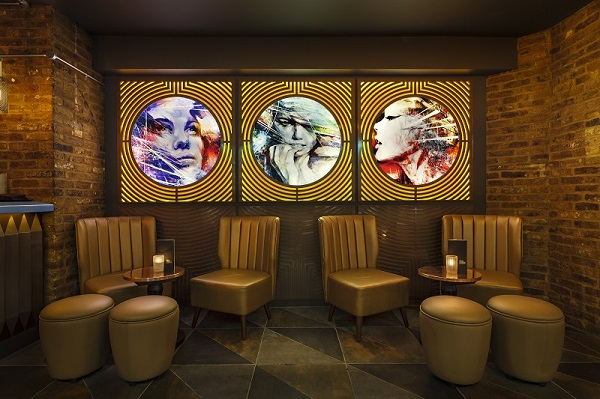 Dirty Martini Hanover Square Venue Hire W1S seats in bar with boutique furnishings