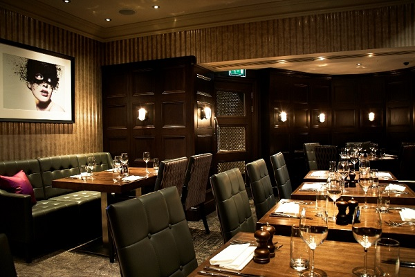 The Hippodrome Casino Christmas Party WC2H- Jimmys function room set out banqueting style
