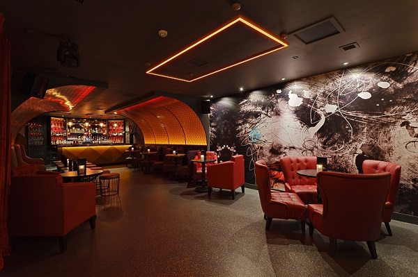 Dirty Martini Monument Christmas Party EC3R bar area