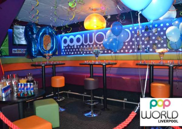 Popworld Liverpool Venue Hire L1- Semi private area seperated off for a birthday celebration