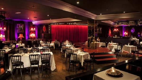 Proud City Venue Hire EC3R stage of venue with 1920s furnishings