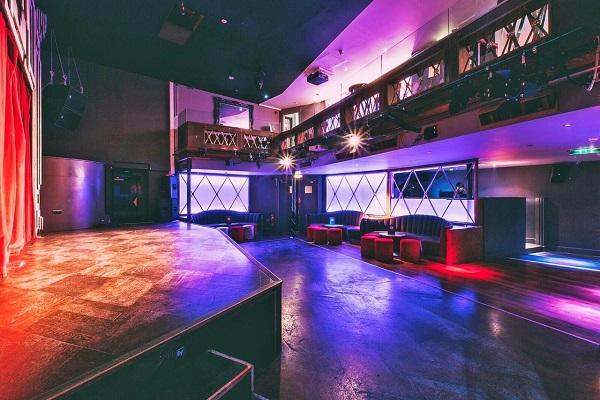 RAH RAH Rooms Venue Hire W1J inside of plush nightclub