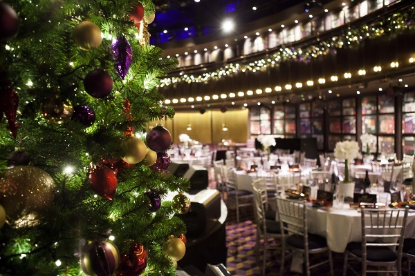 The Hippodrome Casino Christmas Party WC2H- Christmas party might set out banqueting style