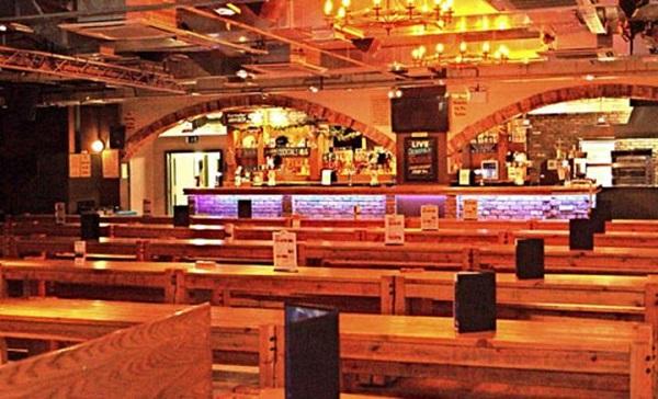 Bierkeller Complex Venue Hire L1- Beer hall set out for evening service