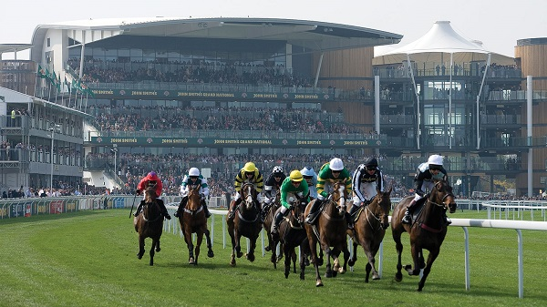 Aintree Racecourse Summer Party L9- Horse racing taking place