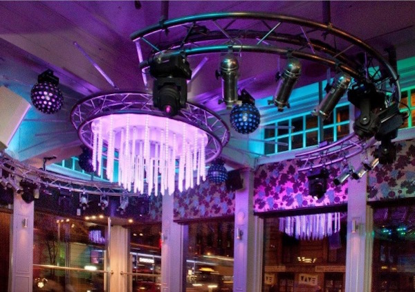 Yates Manchester Christmas Party M1 venue dressed for christmas party