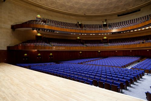 Sheffield City Hall Venue Hire S1- tiered seating in the main hall
