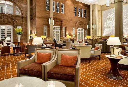 Waldorf Astoria Edinburgh Hogmanay EH1- Main bar/seating area where christmas drinks are held