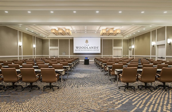 Woodlands Conference Venue Hire WF16- Meeting room set out theatre style for a large meeting