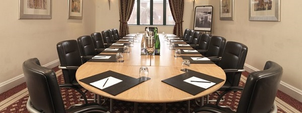 Mercure Dartford Hotel Venue Hire DA3- Boardroom meeting with notepads