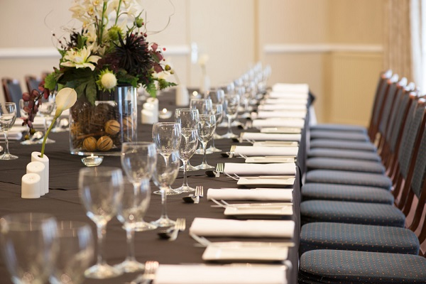 Forest Lodge Hotel Venue Hire SO43- Tables laid out for lunch time delegates