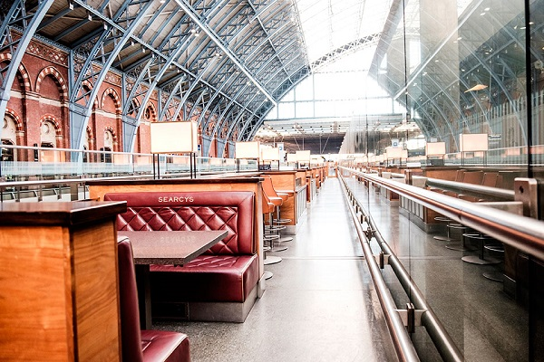 Searcys St Pancras Venue Hire NC1- Semi private booths available for reservation