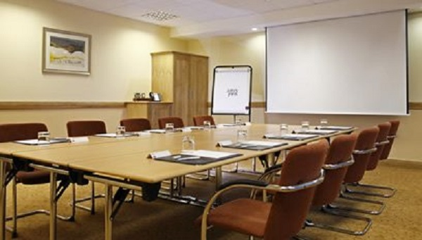 Jurys Inn Sheffield Venue Hire S1- Small meeting room set out for a 12 delegate conference