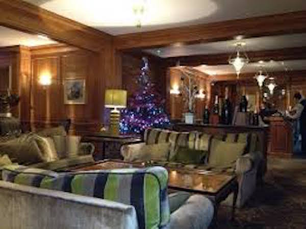 Royal Berkshire Christmas Party SL5 lounge og hotel with festive tree n display by reception