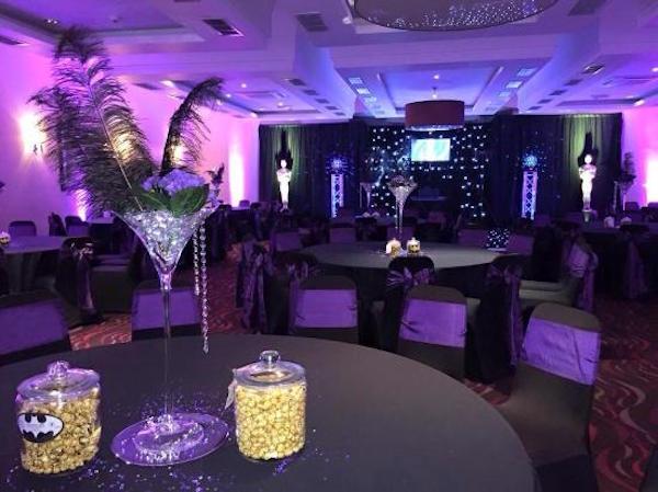 Hallmark Hotel Irvine Hogmanay KA11 tables set out for hogmanay event