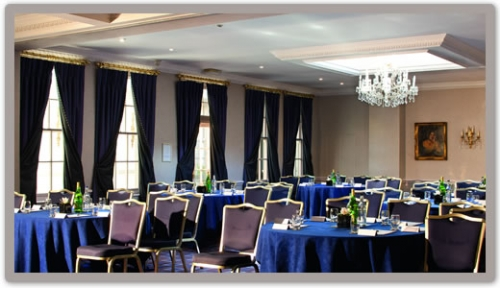 Chilston Park Hotel ME17- Conference set out banqueting style with flip charts