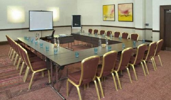 Ashford International Hotel Venue Hire TN24- conference set out boardroom style for a lunch time meeting