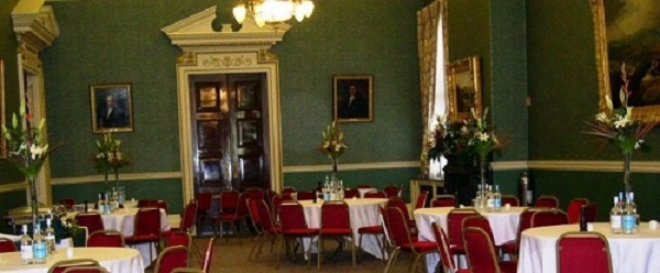 Cutlers Hall Venue Hire S1- Main hall set out banqueting style for a conference