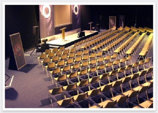 Life Centre Events Venue Hire BD3- Product launch for over 100 delegates set out theatre style