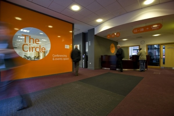 Circle Sheffield Venue Hire S1- Reception area where delegates have an intermission from their meeting