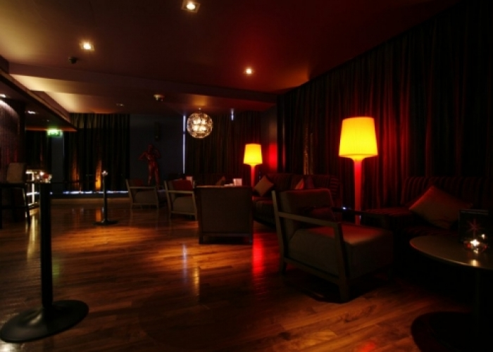 Alea Nottingham Venue Hire NG1- lounge area set out for birthday celebration drinks