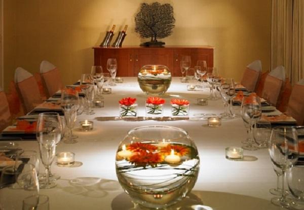 Tudor Park Marriott Venue Hire ME14- Private dinner set out for 10-12 guests