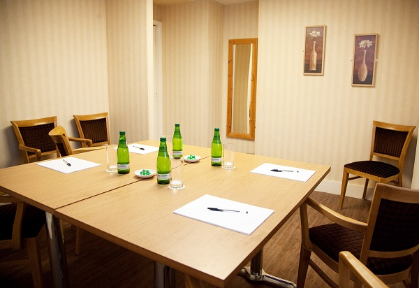 The King Charles Hotel ME7- smaller function room set out for a lunch meeting